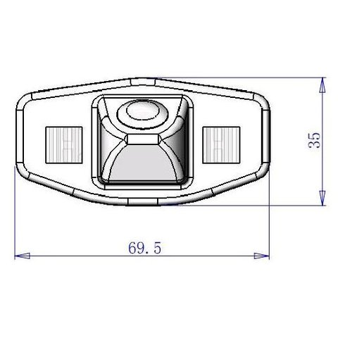Автомобильная камера заднего вида для Honda Accord Превью 1