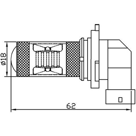 Противотуманная LED лампа UP-7G-H10WB-30W (белая, 12-24 В) Превью 1