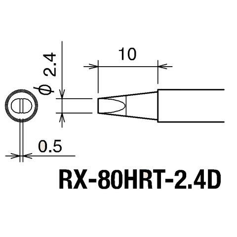 Паяльное жало Goot RX-80HRT2.4D Превью 1