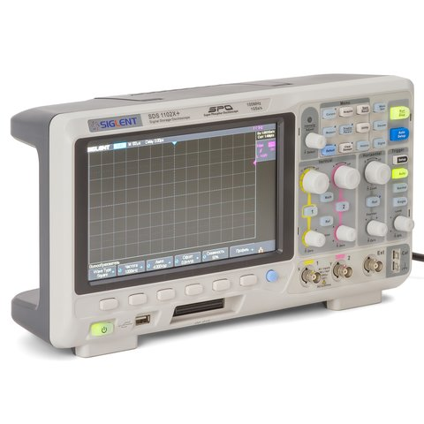 Фосфорний цифровий осцилограф SIGLENT SDS1102X+ Прев'ю 2