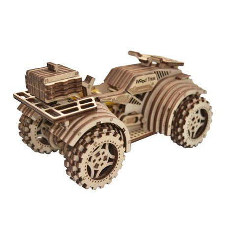 Mechanical 3D Puzzle Wood Trick Quad Bike