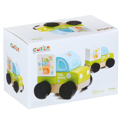 Wooden Construction Set CUBIKA Ice Cream Truck LM-8