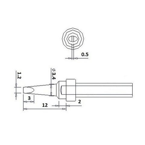 Soldering Tip Quick QSS200-1.2D Preview 1